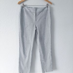 NINE WEST Gray White Pinstripe Skinny Pants 10